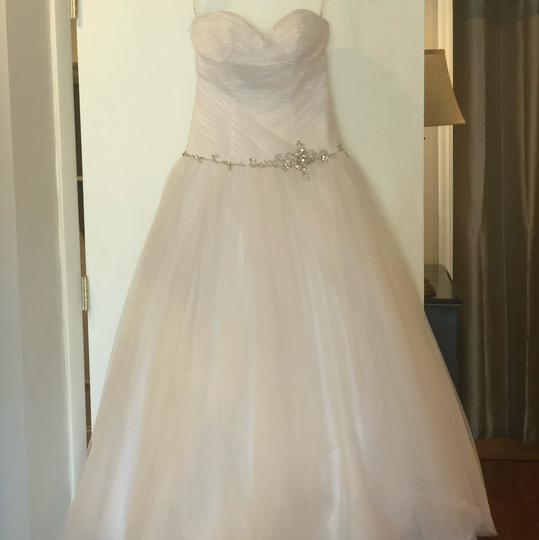 Alfred Angelo White Tulle Ball Gown Feminine Wedding Dress Size 6 (S) Image 4