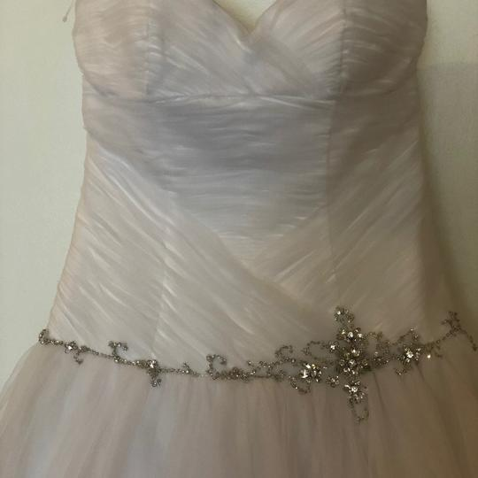 Alfred Angelo White Tulle Ball Gown Feminine Wedding Dress Size 6 (S) Image 5