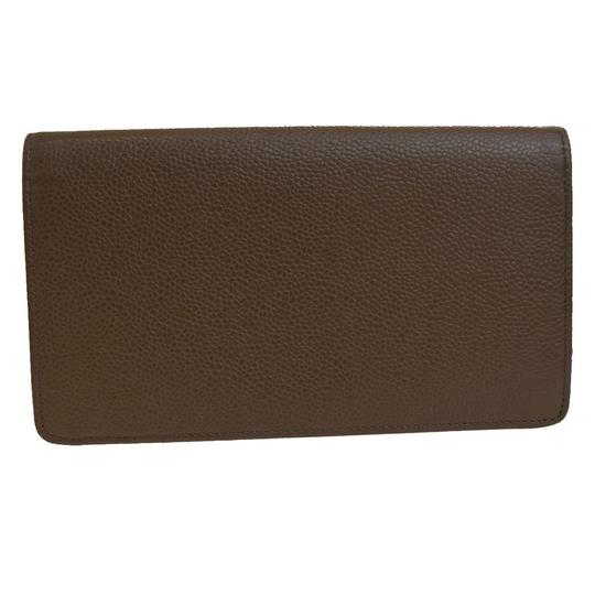 Chanel CHANEL CC Long Bifold Wallet Purse Caviar Skin Leather Brown Italy Image 3