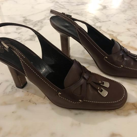 Prada brown coffee Pumps Image 10