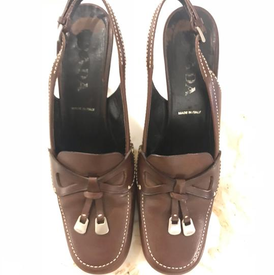 Prada brown coffee Pumps Image 6