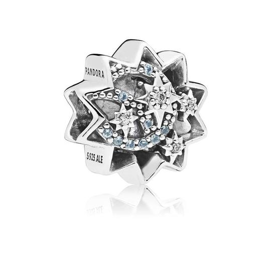 PANDORA Disney, When You Wish Upon A Star Charm, Light Blue Enamels & Crystals Image 1