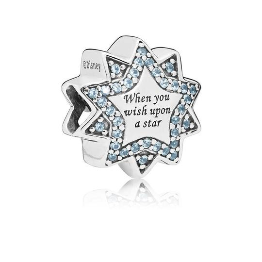 PANDORA Disney, When You Wish Upon A Star Charm, Light Blue Enamels & Crystals Image 2