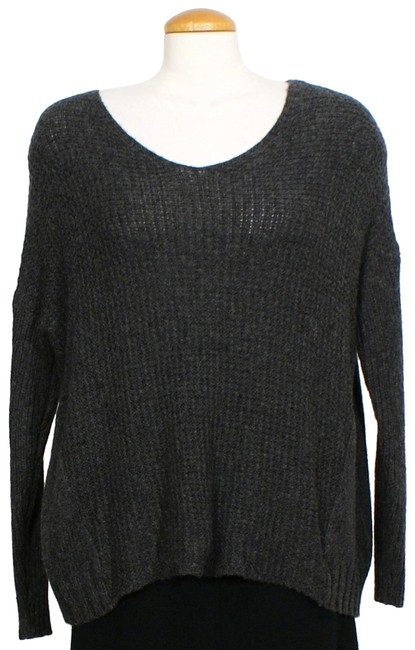 Preload https://img-static.tradesy.com/item/24323272/eileen-fisher-merino-wool-camel-waffle-box-v-neck-charcoal-gray-sweater-0-3-650-650.jpg