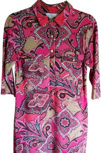 Jude Connally short dress Pink/Multi on Tradesy