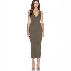 dark green/grey tint Maxi Dress by James Perse