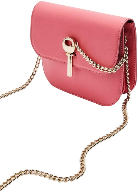 Item - Amelia Mini Premium Pink Leather Shoulder Bag