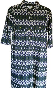 Jude Connally short dress Navy/Green/Cream on Tradesy