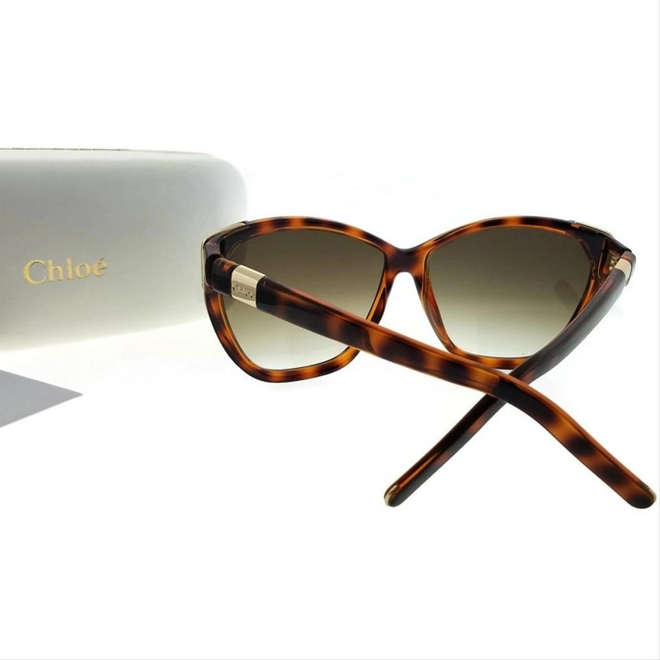 5f9831316c0 Chloé CE600S-219-60 Cat Eye Women s Tortoise Frame Brown Lens Sunglasses  Image 2. 123