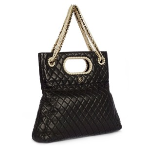 Chanel Classic Pearl Westminster Rare Limited Edition Tote in Black
