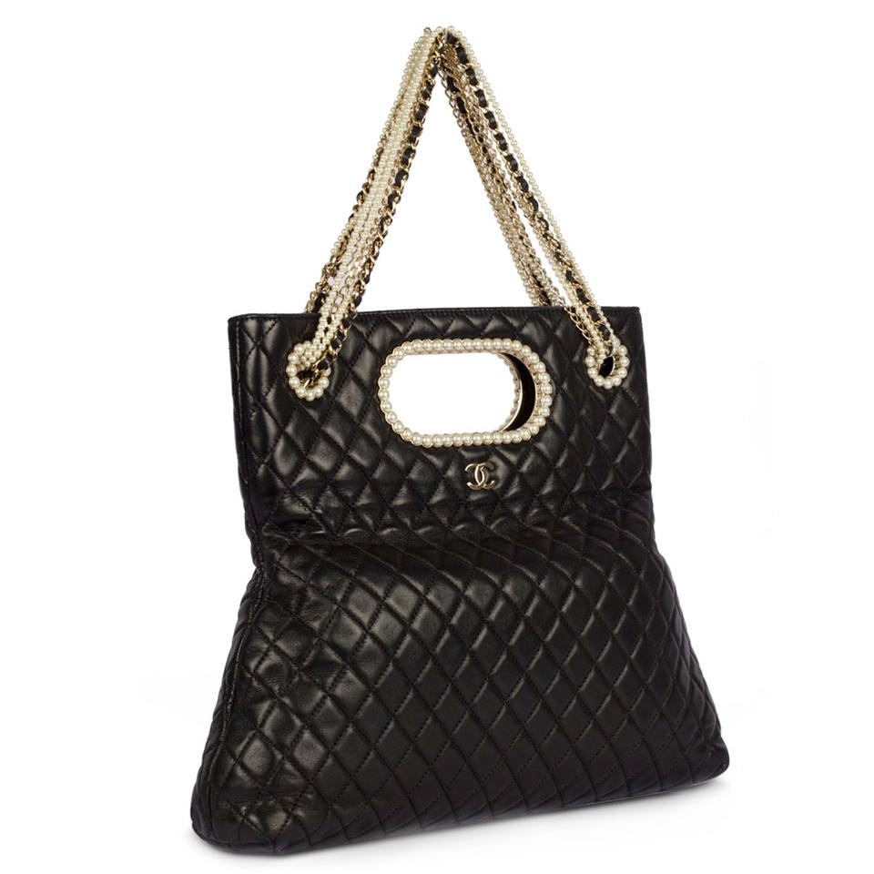 765de19a9f9b Chanel Classic Pearl Westminster Rare Limited Edition Tote in Black Image 0  ...