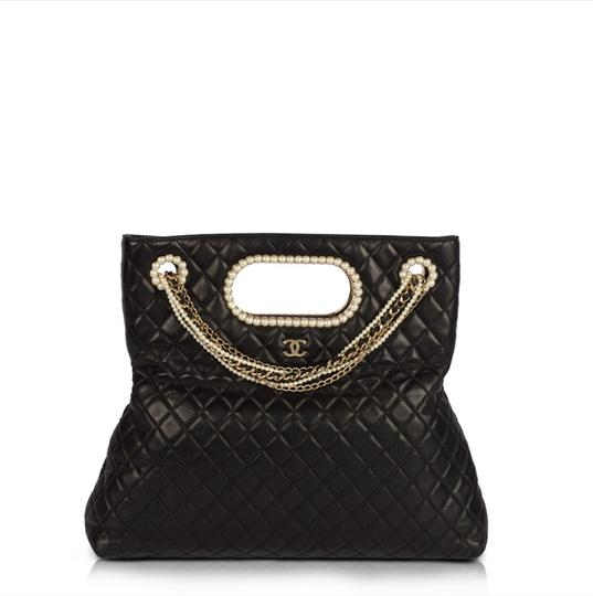 Chanel Classic Pearl Westminster Rare Limited Edition Tote in Black Image 1