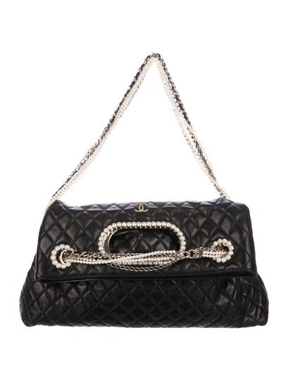 Chanel Classic Pearl Westminster Rare Limited Edition Tote in Black Image 2