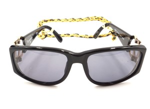 Chanel RARE long gold chain CC Sunglasses celebrity runway collector's piece