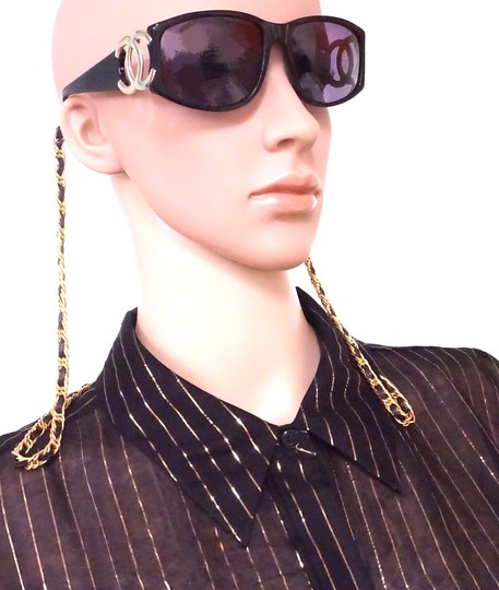 Chanel RARE long gold chain CC Sunglasses celebrity runway collector's piece Image 1