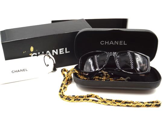 Chanel RARE long gold chain CC Sunglasses celebrity runway collector's piece Image 3