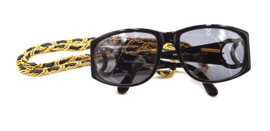 Chanel RARE long gold chain CC Sunglasses celebrity runway collector's piece Image 4