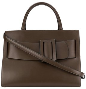 Boyy Bobby Satchel Shoulder Tote in Brown Chocolate Convertible