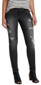 Maurices Skinny Distressed Ripped Patched Holes Destroyed Jeggings