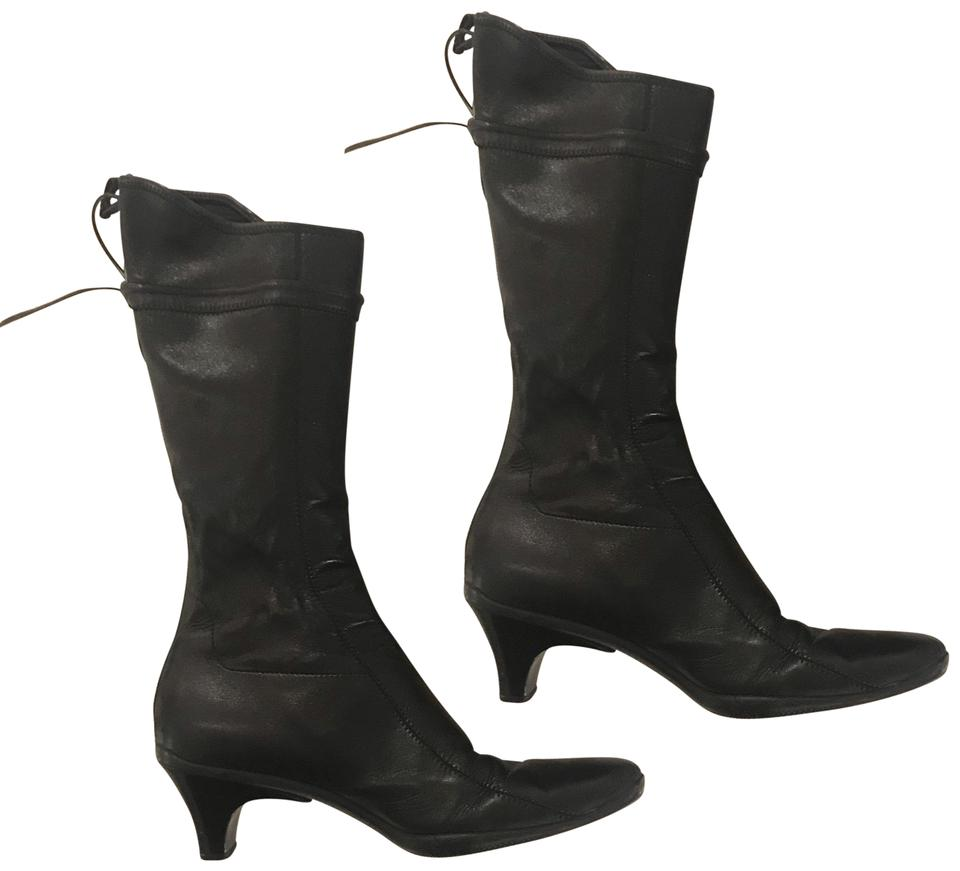 a5f49445240 Prada Black Leather. Sport Boots Booties Size EU 38 (Approx. US 8 ...