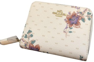 Coach Coach Small Zip Wallet with Magnolia Print