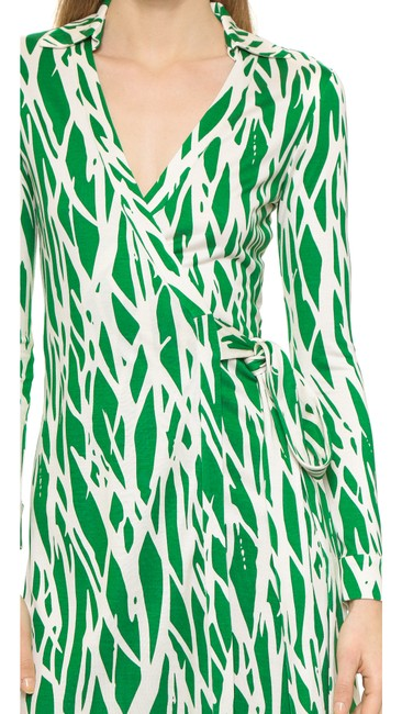 Diane von Furstenberg short dress Green/White Print Wrap Classic on Tradesy Image 4