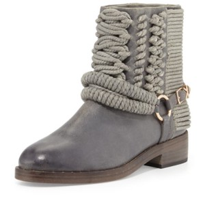 Ivy Kirzhner Ankle Rose Gold Braided Casual Gray Boots