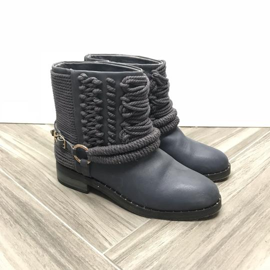 Ivy Kirzhner Ankle Rose Gold Braided Casual Gray Boots Image 3