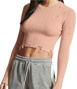 Forever 21 Thrashed Patchwork Distressed Destroyed Holes Sweater