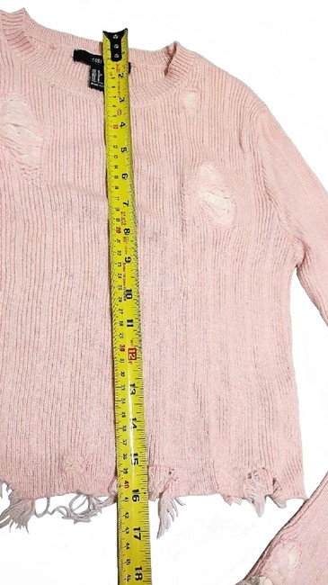 Forever 21 Thrashed Patchwork Distressed Destroyed Holes Sweater Image 4
