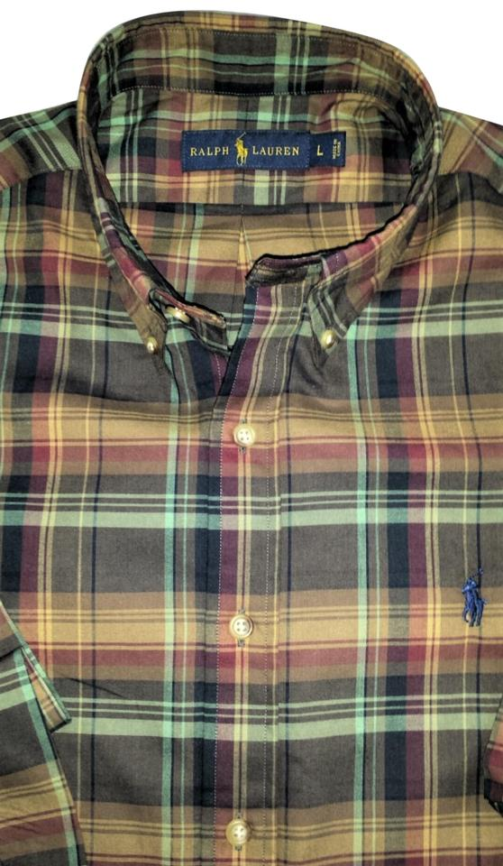 d49e7b48 Polo Ralph Lauren Cafe/Maroon Men's Plaid Button-down Top Size 14 (L) 48%  off retail