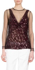 Dries van Noten Top Black / Burgundy