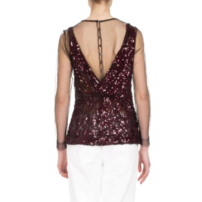 Dries van Noten Top Black / Burgundy Image 1