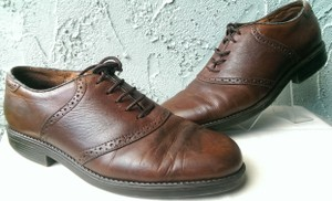 Easy Spirit Brown Men's Leather Mitchel Oxford Dress Casual 11 Shoes