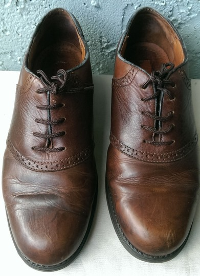 Easy Spirit Brown Men's Leather Mitchel Oxford Dress Casual 11 Shoes Image 4