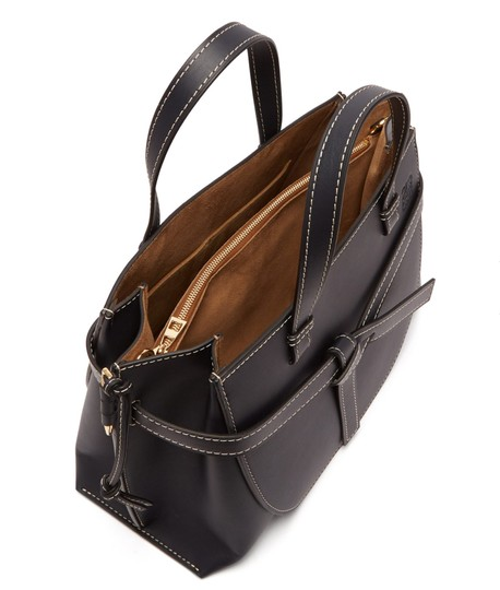 Loewe Small Gate Gate Top Handle Gate Gate Satchel Tote in Blue Midnight Natural Image 10