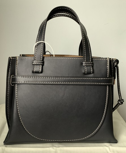 Loewe Small Gate Gate Top Handle Gate Gate Satchel Tote in Blue Midnight Natural Image 4