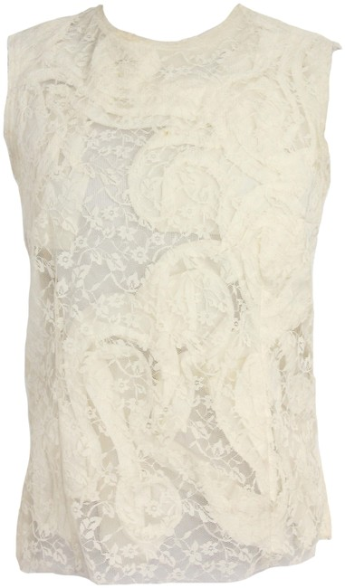 Preload https://img-static.tradesy.com/item/24324073/comme-des-garcons-white-lace-sleeveless-blouse-size-0-xs-0-1-650-650.jpg