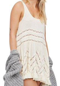 Free People short dress tea (cream) on Tradesy