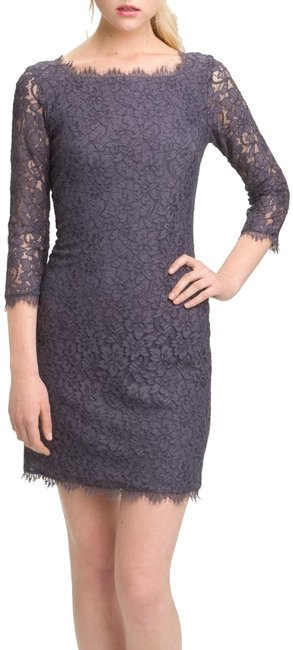 Item - Gray Dvf Zarita Lace Short Night Out Dress Size 8 (M)