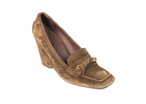 The Original Car Shoe Brown Wedges