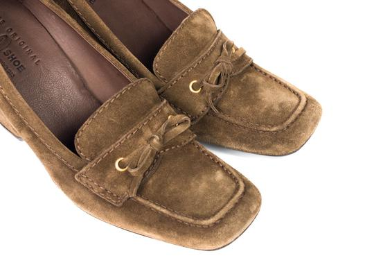 The Original Car Shoe Brown Wedges Image 1