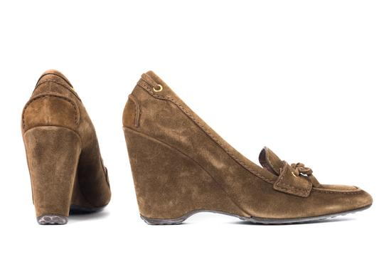 The Original Car Shoe Brown Wedges Image 2