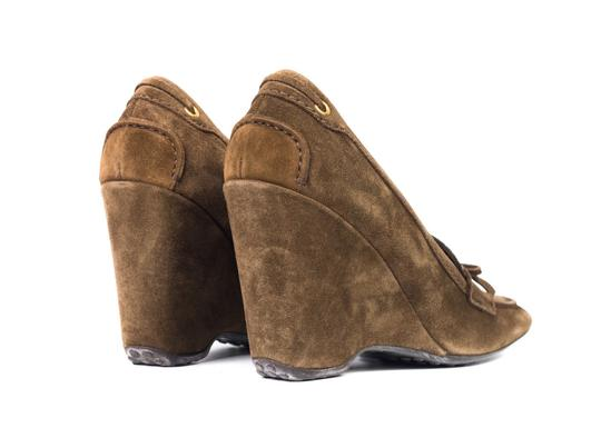 The Original Car Shoe Brown Wedges Image 3