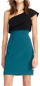 Monique Lhuillier Holiday One Shoulder Two-tone Fitted Comfortable Dress