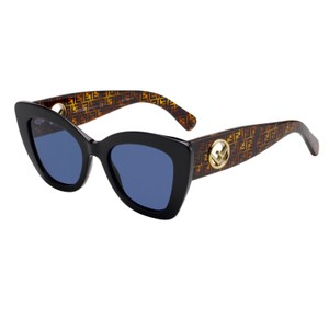 Fendi NEW Fendi FF 0327S Black Logo Leg Print Cat Eye Sunglasses