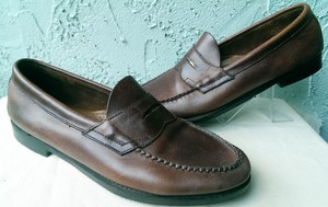 G.H. Bass & Co. Brown Weejuns Wilton Men's Leather Casual Dress Penny Loafer 11 Shoes