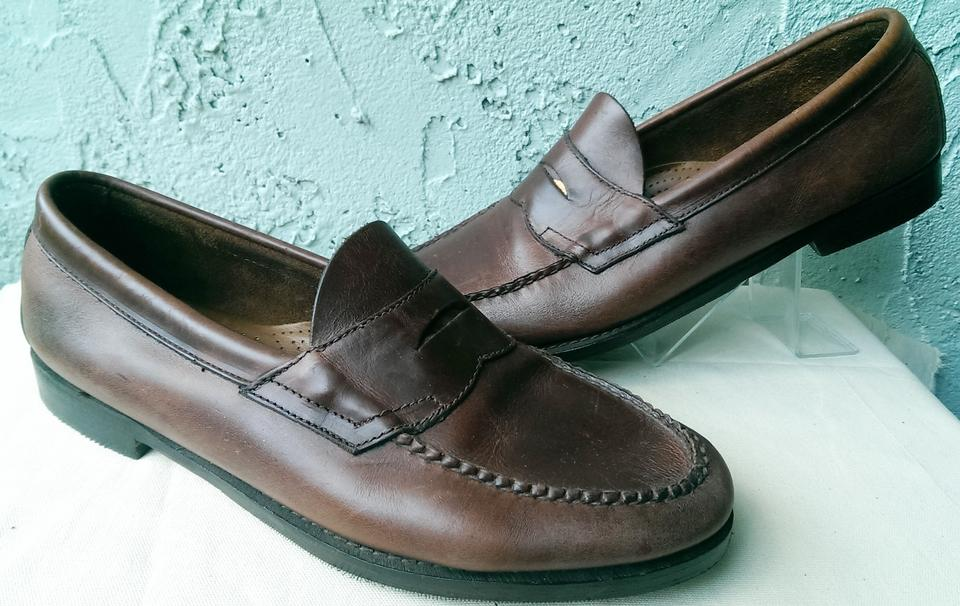 3f9b8bd00b3 G.H. Bass   Co. Brown Weejuns Wilton Men s Leather Casual Dress Penny Loafer  11 Shoes ...