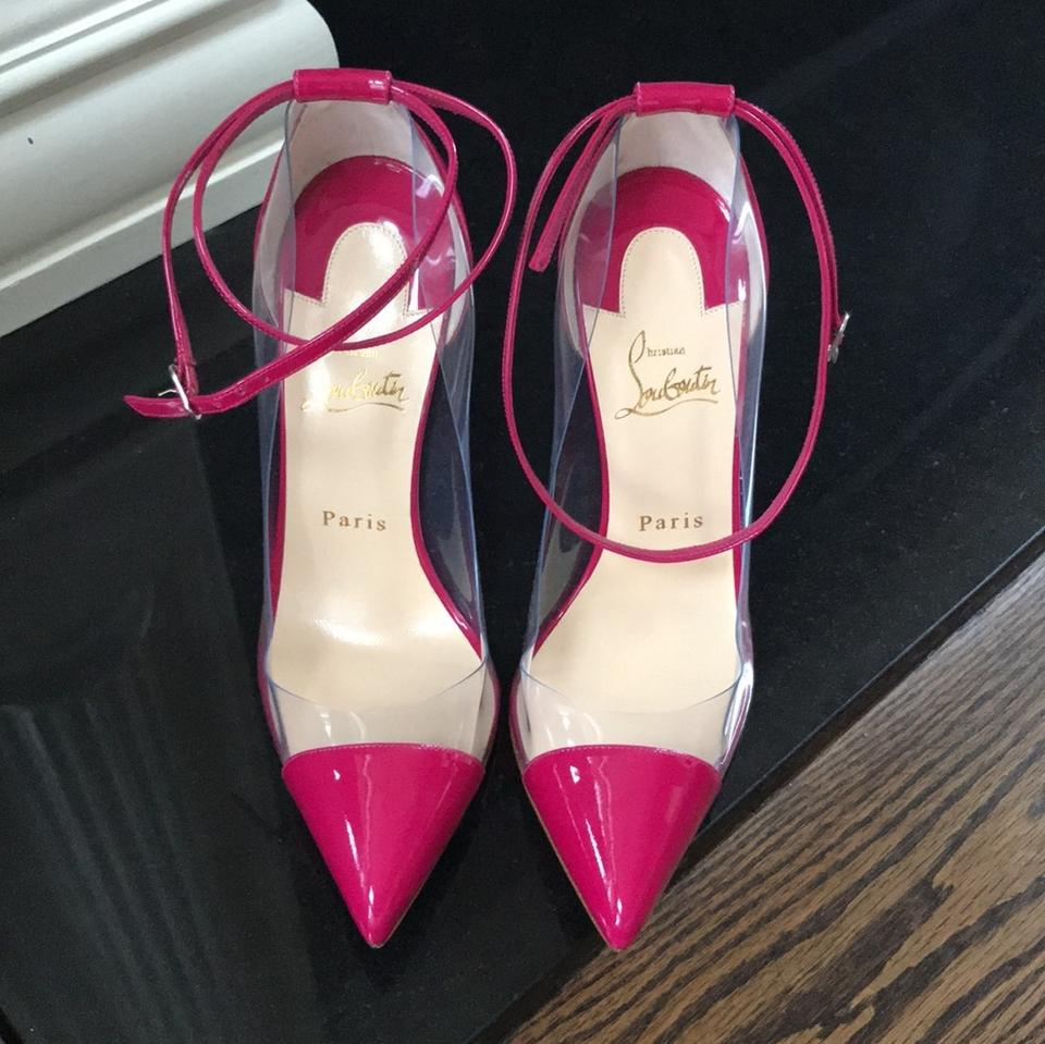 fa598df209f Christian Louboutin Pink Un Bout Rare Pvc Patent Stiletto Pumps Size EU  38.5 (Approx. US 8.5) Regular (M, B) 19% off retail
