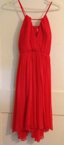 J.Crew Strawberry Silk Chiffon Destination Bridesmaid/Mob Dress Size 6 (S)